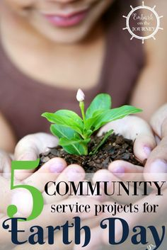 This Earth Day take your homeschooler out to do one of these five community service projects the whole family can participate in. | embarkonthejourney.com via @letsembark