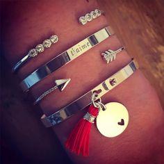Composition de joncs argent Je T'aime pour la Saint-Valentin - L'Atelier d'Amaya…