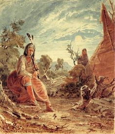 Indians in Camp (Seth Eastman - 1848)