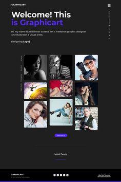 GraphicArt - Unique Portfolio PSD Template, #Ad #Unique #GraphicArt #Portfolio #Template Freelance Graphic Design, Graphic Art, Retail Logo, Free Advertising, Ui Elements, Beautiful Sites, Portfolio Website, Up And Running, Business Flyer