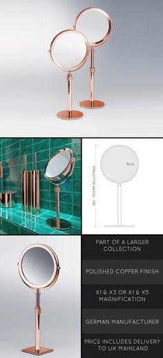 Copper Make Up Mirror (56D)