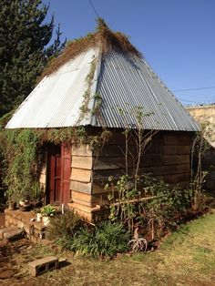 """Iron shed"" designed by then-17 year old Tanden Launder in Ethiopia. The ""iron"" in this instance is ironwood."