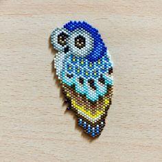 Diagram weaving miyuki pearls owl / miyuki weaving / miyuki pattern / m . Seed Bead Jewelry, Bead Jewellery, Seed Bead Earrings, Beaded Earrings, Beaded Bracelets, Seed Bead Patterns, Beaded Jewelry Patterns, Beading Patterns, Beading Ideas