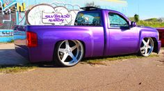 Chevy. Gmc Pickup, Kustom, Chevy Trucks, Purple, Vehicles, Car, Automobile, Autos, Viola