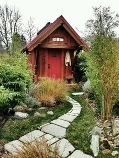 Tiny house in the yard.
