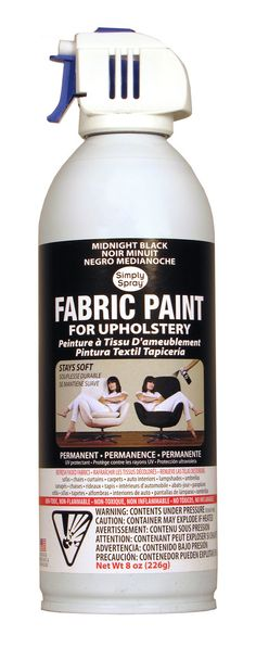 Midnight Black Upholstery Fabric Paint
