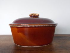 Hull Oven Proof USA Oval Casserole Dish - Brown Drip Design etsy 25.00 15.00sh