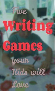 4 fun ideas for Writing Games