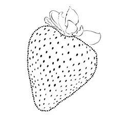 Minimal strawberry sketch illustration graphic tee for women.  #90s #tumblr #blogger #street #style #hipster #tee #minimalism #minimalist