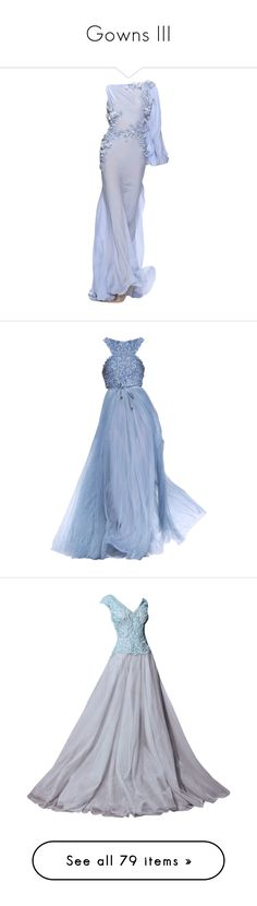 """Gowns III"" by bgarnett92 ❤ liked on Polyvore featuring dresses, gowns, long dresses, vestidos, blue dress, blue gown, blue evening dresses, blue ball gown, long blue evening dress and edited"