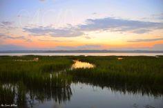 Beaufort SC harbor at daybreak