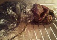 A woman from Petrozavodsk city in Russia claimed to have an alien body in her freezer for two years.    The anonymous woman said she'd found the creature next to her summer house after hearing a strange noise and had decided to freeze it. The odd 40-50cm long body looks distinctly plant-like with two eyes, a nose, a mouth and a one-piece item of clothing.    The story took an even stranger turn when two men allegedly turned up at her house a few days ago and confiscated the corpse for…
