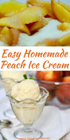 What better to usher in summer than Homemade Fresh Peach Ice Cream featuring luscious, juicy and sweet peaches mixed with a rich, creamy and decadent vanilla custard base! In the South, there are as many peach ice cream recipes as there are peaches, but Frozen Desserts, Summer Desserts, Frozen Treats, Peach Ice Cream Recipe, Ice Cream Recipes, Homemade Peach Icecream, Custard Ice Cream Recipe, Electric Ice Cream Maker, Achiote