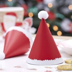 Check out new Quirky Gifts now online: Mini Christmas Sa... See it out here! http://www.feelingquirky.co.uk/products/mini-christmas-santa-pom-pom-party-hats?utm_campaign=social_autopilot&utm_source=pin&utm_medium=pin