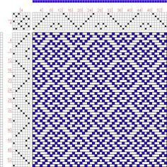 Hand Weaving Draft: Page 131, Figure 54, Donat, Franz Large Book of Textile Patterns, 7S, 7T - Handweaving.net Hand Weaving and Draft Archiv...