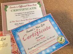 Nice list certificate Holiday Ideas, Christmas Ideas, Xmas, Santa's Nice List, Santa List, Certificate, Festive, Christmas, Navidad