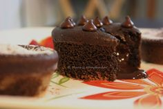 Dominos style of Molten Choco lava cake with fluffy outside and gooey hot chocolate inside ! A simple eggless recipe prepared with Curds using Oven. Eggless Recipes, Cake Recipes, Cooking Recipes, Choco Lava, Lava Cakes, Chocolate Fudge, Cakes And More, Vegetarian Recipes, Cake Decorating