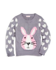 Design History Girls' Bunny Sweater - Sizes 2-6X