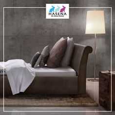 Hasena Dream-Line Bett Ciara mit Kopfteil Damo und Fusselement Ivio Line, Love Seat, Couch, Furniture, Home Decor, Chair, Small Sofa, Settee, Decoration Home