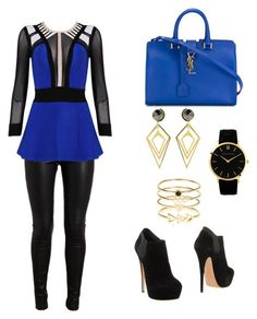 """""""Untitled #169"""" by feliciy15 on Polyvore featuring Balenciaga, Posh Girl, Larsson & Jennings, Casadei, Yves Saint Laurent, Sarah Magid, Accessorize, women's clothing, women's fashion and women"""