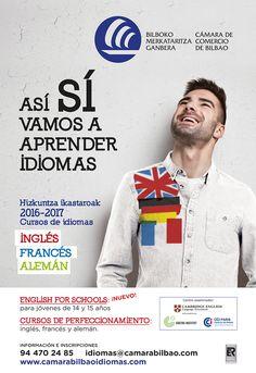 Campaña Cursos de Idiomas de la Cámara de Comercio de Bilbao