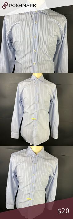 Goodfellow /& Co Men/'s Big Button Up Dress Shirt 3X B 3XB Blue 100/% Cotton M8