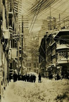 New York City after the Blizzard of 1888  ...and look at all of those electrical wires!!!