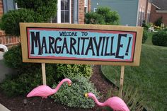 Margaritaville Party Sign