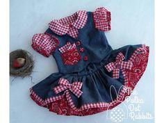 Chicas niño Denim vaquera vestido de por ThePolkaDotRabbits en Etsy
