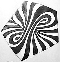 The Zentangle tangle Striping isn't simply any old stripes. It's a method of placing striped sections beside each other for interesting e...