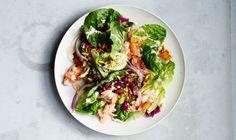 Baby Romaine and Hot Smoked Salmon Salad Recipe