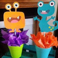 Little Monsters Party; Little Monsters Birthday Party; Little Monster Birthday, Monster 1st Birthdays, Monster Birthday Parties, First Birthday Parties, First Birthdays, First Birthday Centerpieces, Birthday Party Decorations, Halloween Decorations, Star Wars Birthday