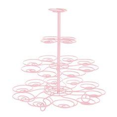 Cupcake Holder Wire Pink 30cm