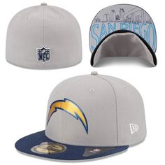 Men s New Era Gray San Diego Chargers 2015 NFL Draft 59FIFTY Fitted Hat  Charger 2015 6d13e997e