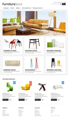 #PrestaShop Online #Furniture Store #ResponsiveDesign theme