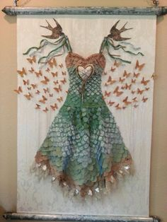 New piece by my friend, Jeanne Stregles!  I saw it when she was working on the background...this piece is huge, about 6 ft tall I would guess...