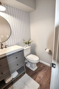 Bathroom Ideas On A Budget - Before After | Apartment Therapy Diy Bathroom Remodel, Bathroom Renovations, Home Remodeling, Bathroom Makeovers, Half Bath Remodel, Restroom Remodel, Cheap Bathroom Makeover, House Renovations, Shower Remodel
