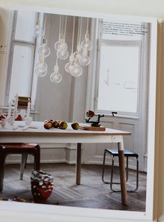 i want this table and these lights. and those windows.