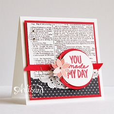 Stampin' Cards and Memories: You Can Create It! NL #1, SAB2015, Sale-A-Bration, Dictionary, Best Day Ever, Stacked With Love DSP Pack, Valentine