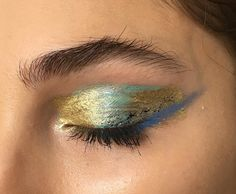 "57 Likes, 5 Comments - Marina Eskenazi (@marinaeskenazi_) on Instagram: ""#coming - #bts #back #backstage #blueeyes #makeup #makeupbyme ##gold #golden #goldeneyes #model…"""