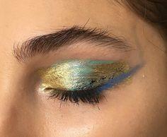 "57 Likes, 5 Comments - Marina Eskenazi (@marinaeskenazi_) on Instagram: ""#coming - #bts #back #backstage #blueeyes #makeup #makeupbyme ##gold #golden #goldeneyes #model…"""