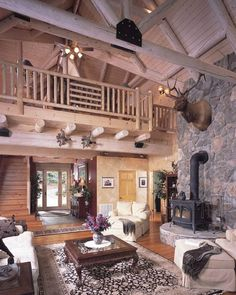Log Home On Pinterest Log Homes Log Cabins And Log Cabin Decorating