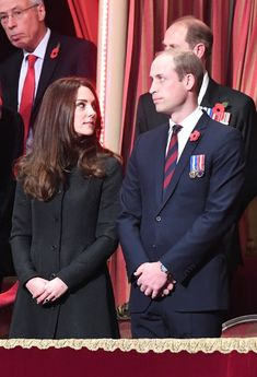Prince William and Duchess Kate joined Queen Elizabeth II and Prince Phillip at the annual Royal Festival of Remembrance on Saturday, November 12 — photos