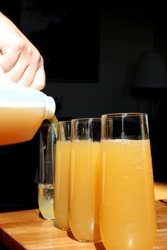 a slightly different, but equally as yummy sounding, cider mimosa recipe