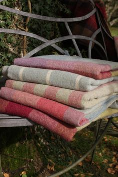 Blankets to keep you cosy, by Susie Watson and add splashes of colour to tone with painting