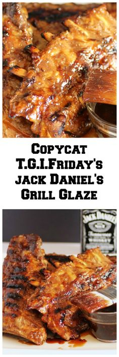 Oh yum, now this is a treat for you, Copycat T.G.I. Friday's Jack Daniels Grill Glaze!! A glaze that you can slather on ribs, chicken, shrimp or steak!!