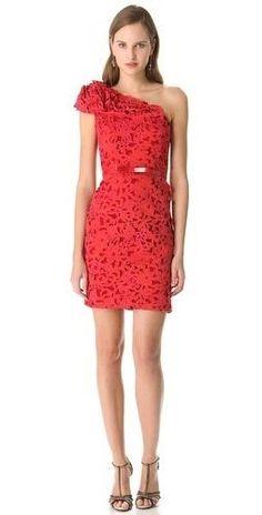 Marchesa Laser Cut Cocktail #Dress #fashion
