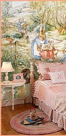 Beatrix Potter  murals  variety of sizes and designs - Peter Rabbit murals for a Beatrix Pottery nursery theme -  Peter Rabbit wallpaper mur...