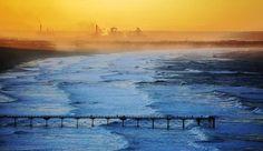 A very beautiful sunset over Saltburn Beach, Photgraphed by Ian Donald Crockett.