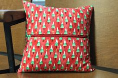 Kristy at Quiet Play and Alyce at Blossom Heart Quilts are sharing 25 (FREE! You can find. Diy Fabric Pouches, Pattern Blocks, Block Patterns, Personalized Christmas Gifts, Christmas Themes, Seasons, Throw Pillows, Ornaments, Sewing
